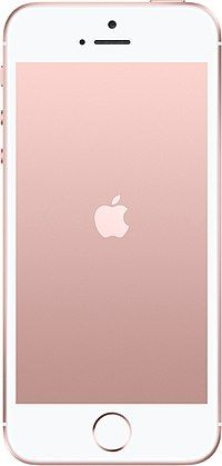 The Apple iPhone SE smartphone in Rose Gold color
